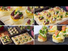 Puff pastry snack with octopus, salmon and avocado Salmon Y Aguacate, Appetizer Recipes, Appetizers, Avocado, Antipasto, Party Snacks, Afternoon Tea, Octopus, Waffles