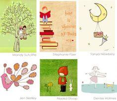 A cute cute site. (Free printables)