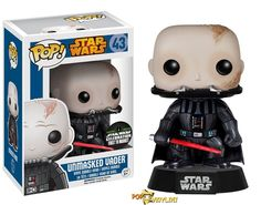 unmasked darth vader Funko recently announced that they will be exhibiting at the Star Wars Celebration 2015 held in Anaheim, CA.