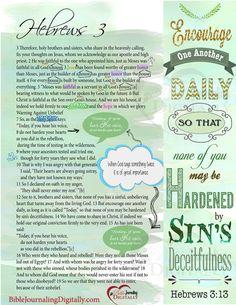 Bible Journaling Hebrews 3 BibleJournalLove.com digitally made by Robin Sampson from HeartofWisdom.com