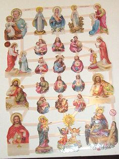 New German Religious Jesus Mary Holy communion die cuts diecuts scraps embellishments sheet ef 7318 card making invitation announcments