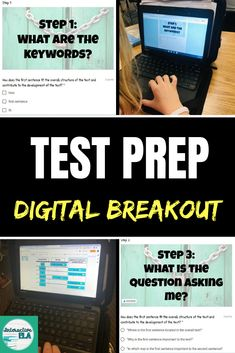 Google Classroom Users: Highly engaging, versatile, interactive, editable, and minimal prep work! Students go through the process of having a deeper understanding of what these test prep comprehension questions are asking them. What makes this breakout unique are the sections that will not allow students to move forward without accurate answers while also including graded questions assessing comprehension. #readingcomprehension #testprep #digitalbreakouts #languagearts Leadership Activities, Classroom Activities, Teacher Resources, Classroom Teacher, Group Activities, Elementary Teacher, Kindergarten Worksheets, Learning Resources, Elementary Schools