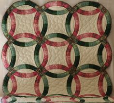 Hand Quilted Double Wedding Ring Quilt by MarthaPearceQuilt, $75.00