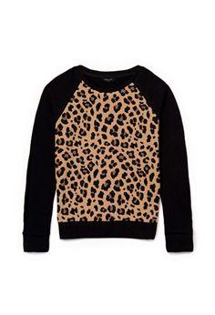 Leopard Print Sweatshirt (Kids)   FOREVER21 girls - 2000075078 YES totally co-ed for boys too!
