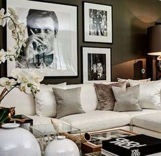 There are many elegant living room ideas that you might decide to get applied in your living room design. Because you have landed here then most probably you want Elegant living room answer. Glam Living Room, Elegant Living Room, Living Room Interior, Home And Living, Living Spaces, Living Room Artwork, Small Living, White Couch Living Room, Sofa Living