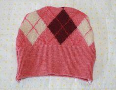 Newborn/Preemie Pink Argyle Baby Hat  Repurposed Soft by WetBagIt, $5.99