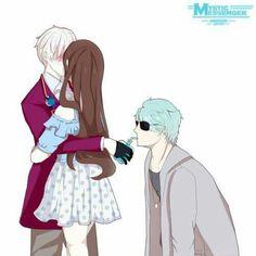 V Route be like Mystic Messenger Game, Jumin Han, Fire Emblem, Chicas Anime, Fandoms, Saeran, Sleeves, Drawings, Fandom