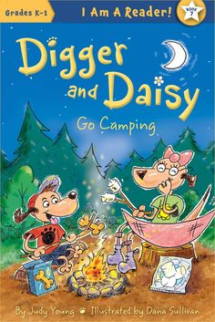 "Read ""Digger and Daisy Go Camping"" by Judy Young available from Rakuten Kobo. Meet Digger and Daisy! They are brother and sister. These dogs like to explore their world and see new things. Camping Books, Go Camping, Daisy Books, Sibling Relationships, Easy Reader, Friends Set, Good Night Moon, Digger, Kids Reading"