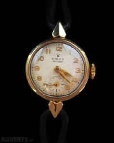 Rolex Antique Watch For Sale in Dublin Dublin from corrsjewellers Vintage Clocks, Antique Clocks, Vintage Rolex, Antique Watches, Vintage Watches, Sistema Solar, Pocket Watches, Something Old, Watch Sale