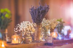 Simple Centerpieces of Dried Flowers | Love Out Loud Studios | Gorgeous Rustic Bohemian Wedding in Vancouver