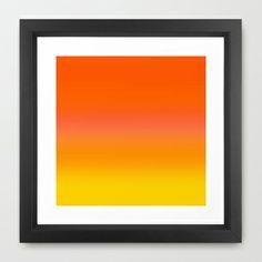 Re-Created Twilight8  Framed Art Print by Robert S. Lee - $35.00