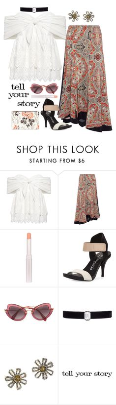 """Tell your story"" by stephanielee4 ❤ liked on Polyvore featuring Sea, New York, Theory, Pedro García, Miu Miu, Kenneth Jay Lane, Chanel, Tim Holtz and fashionset"