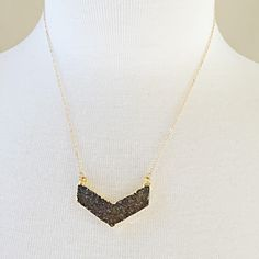 A personal favorite from my Etsy shop https://www.etsy.com/listing/252428943/crystal-chevron-necklace-handmade