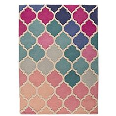 Flair Rugs Illusion Rosella Teppich mit Muster (120cm x 170cm) (Pink/Blau)