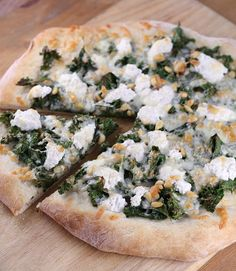 Kale, Pine Nut and Ricotta Pizza.    OHhh I'm always looking for new recipes with kale! #Yummy