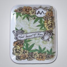 Weed instead of Roses Rolling Tray Ashley Monroe