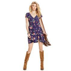 Floral Button-Front Dress - Short Dresses  Dresses - RalphLauren.com