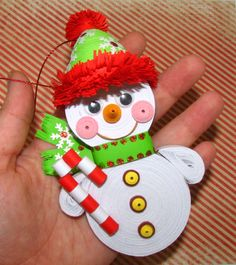 Christmas tree toy Personalized snowman Christmas by QuillingLife