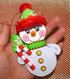 Bonhomme de neige ornement arbre de no l ornement ornement de no l ornement papier - Variete de sapin d ornement ...