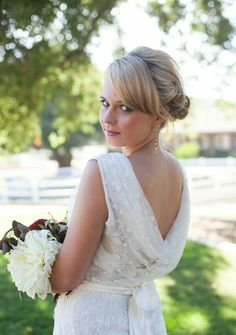 Vineyard Shoot. Styled by Hope Stanley with gown from Mary Me Bridal. Photography by Nancy Orozco.
