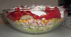 Beste Rezeptesammlung: Eisberg Schichtsalat mit Putenbrust