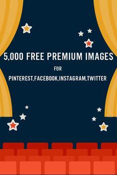 5,000 Free Premium Images for Pinterest Facebook or Instagram