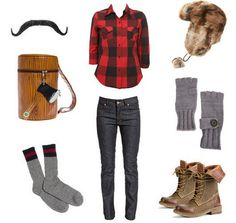 """i'm going to be """"lumber jill"""" for halloween. it would be awesome if this was my costume! Lumberjack Halloween, Lumberjack Costume, Lumberjack Party, Girl Costumes, Costumes For Women, Costume Ideas, Black And White Stars, Halloween Costumes For Kids, Halloween Ideas"""