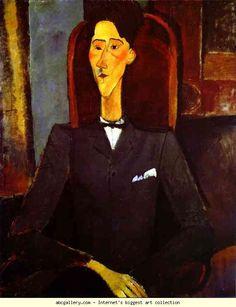 Amedeo Modigliani. Portrait of Jean Cocteau.