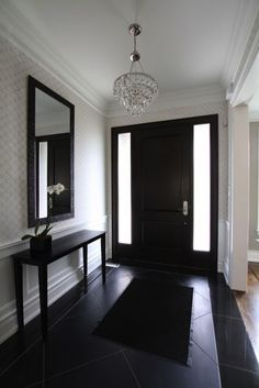 Very similar entry way to yours - Lovely idea! You already have the lighting, too!