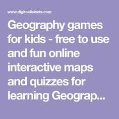 Geography games for kids - free to use and fun online interactive maps and quizzes for learning Geography. Includes games for learning countries, flags, World geography and physical geography. World Geography Quiz, Geography Games For Kids, Geography Classroom, Geography Lessons, Human Geography, Interactive Learning, Interactive Map, Learning Games, Political Geography