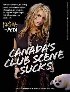 Trashion Queen Kesha's Peta Ad <3