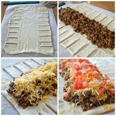 Taco Braid, try with crescent rolls!