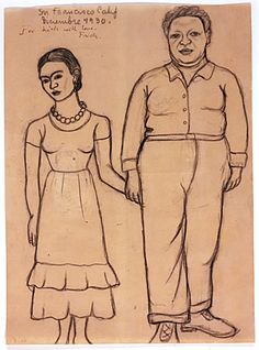 Frida Kahlo (Mexican, 1907-1954) Diego y Yo (Diego and I), 1930Charcoal and ink on paper29.5 x 21.5 cmNickolas Muray Collection of Modern Mexican Art© 2009 Banco de Mexico Diego Rivera & Frida Kahlo Museums Trust. Av Cinco de Mayo No. 2, Col. Centro, Del. Cuauhtemoc 06059, Mexico, DF