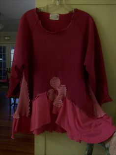 Funky Patched Tunic/Shades of Hot Pink/Plus Size by SheerFab