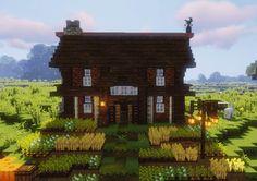 Wheat & Beet Minecraft Starter House, Easy Minecraft Houses, All Minecraft, Minecraft House Designs, Minecraft Construction, Minecraft Bedroom, Minecraft Blueprints, Minecraft Creations, Minecraft Projects