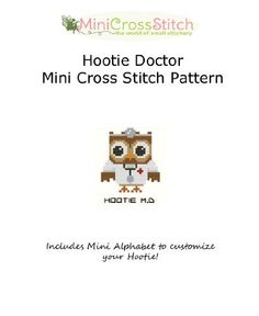 Hootie Doctor Mini Cross Stitch Pattern by Pinoy Stitch, http://www.amazon.com/gp/product/B009TU5JOO/ref=cm_sw_r_pi_alp_Q2rHqb1QEDX5R