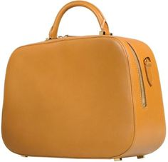 The Row Medium Leather Bag in Yellow (Camel) | Lyst