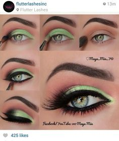 Gorgeous Makeup: Tips and Tricks With Eye Makeup and Eyeshadow – Makeup Design Ideas Colorful Eye Makeup, Makeup For Green Eyes, Blue Eye Makeup, Eye Makeup Tips, Smokey Eye Makeup, Makeup Goals, Eyeshadow Makeup, Makeup Inspo, Makeup Inspiration
