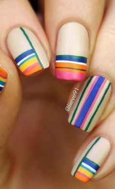 Stripes aren't just stripes. You can now make it look like modern art. So use as many colors as you want.