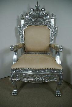 The Tudor Royal Throne Chair in Silver and Cream | Hampshire Barn ...513 x 768 | 40.6KB | www.hampshirebarninteriors....