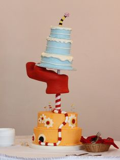 Quite possibly the coolest Dr Seuss party cake ever