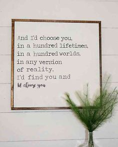 """And I'd choose you, in a hundred lifetimes, in a hundred worlds, in any version of reality. I'd find you and I'd choose you."" #national-girlfriends-day #girlfriend-quotes #I-love-you #love-quotes #romantic-quotes #quotes Follow us on Pinterest: www.pinterest.com/yourtango"