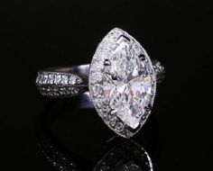 marquise engagement rings | marquise diamond engagement ring settings