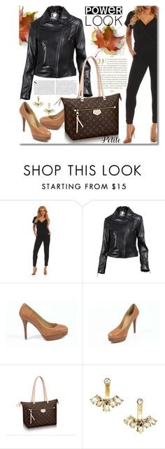 """""""PowerLook"""" by look-shop ❤ liked on Polyvore featuring Stuart Weitzman, Louis Vuitton and Kershaw"""