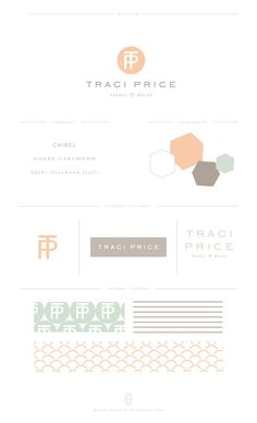 Custom Brand for Traci Price by Erin Haines Design Co. // www.erinhaines.com