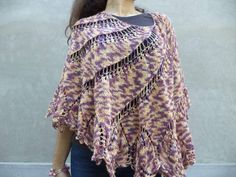 Begonia shawlhandknitted shawl with soft by Livianahandmade