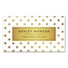 Elegant and Cute Gold Glitter Polka Dots - Fashion and Unique Business Cards (The Background Colour is Changeable). This design is perfect for Modern Makeup Artist, Massage Therapist, Fashion Stylist, Hair Stylist, Nail Technician, Beautician, Cosmetologist, Aesthetician, Hairdresser, SPA Store, Salon Store, and more.    All text style, colours, sizes can be modified to fit your needs. If you need any customisation, please contact me.