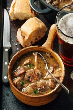 Steak and Ale Soup with Mushrooms | http://thecozyapron.com