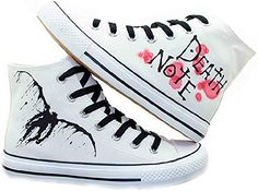 online shopping for Telacos Death Note Cosplay Shoes Canvas Shoes Sneakers White from top store. See new offer for Telacos Death Note Cosplay Shoes Canvas Shoes Sneakers White Death Note Cosplay, Anime Inspired Outfits, Anime Outfits, Best Gifts For Men, Plimsolls, Painted Shoes, Unisex, Custom Shoes, Me Too Shoes