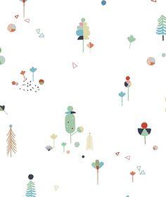 Papier peint arbres Imaginarium by Carly Gledhill Surface Pattern Design, Pattern Art, Kids Patterns, Print Patterns, Inspirational Wallpapers, Tree Wallpaper, Kids Poster, Motif Floral, Screensaver